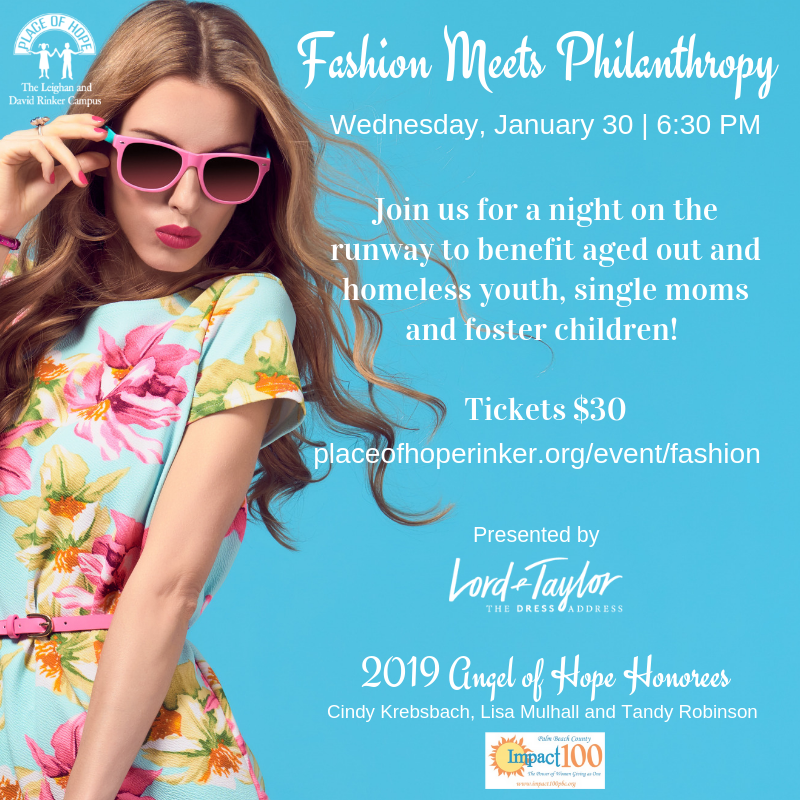 Fashion Meets Philanthropy Graphic